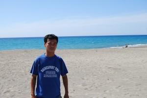 cameraman at the beach
