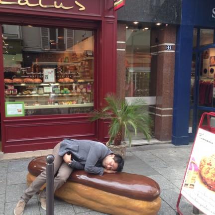 sleeping selfie in Europe