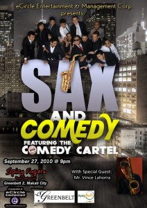 sax and comedy